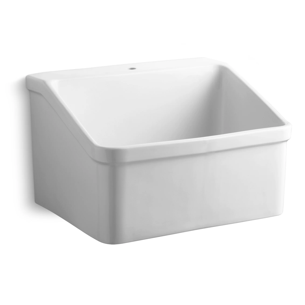 Wall-mount utility sink