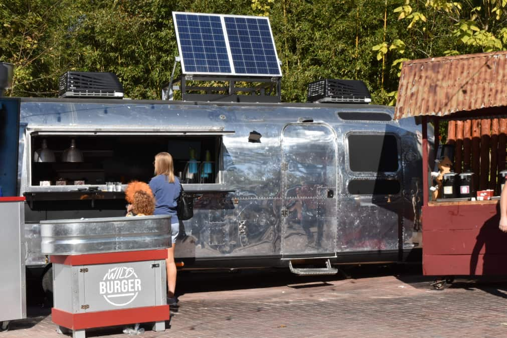 camper with solar panel on it