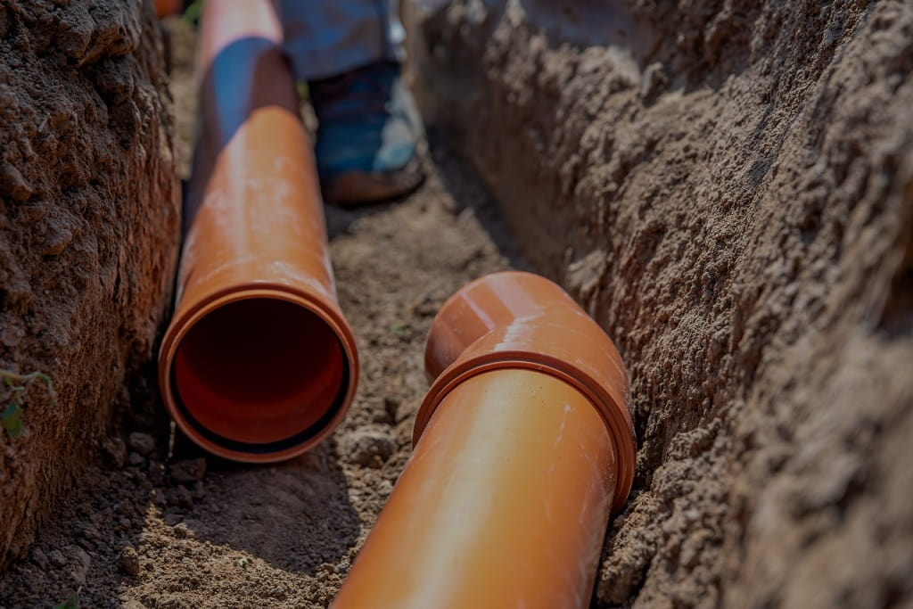 pipes in the ground