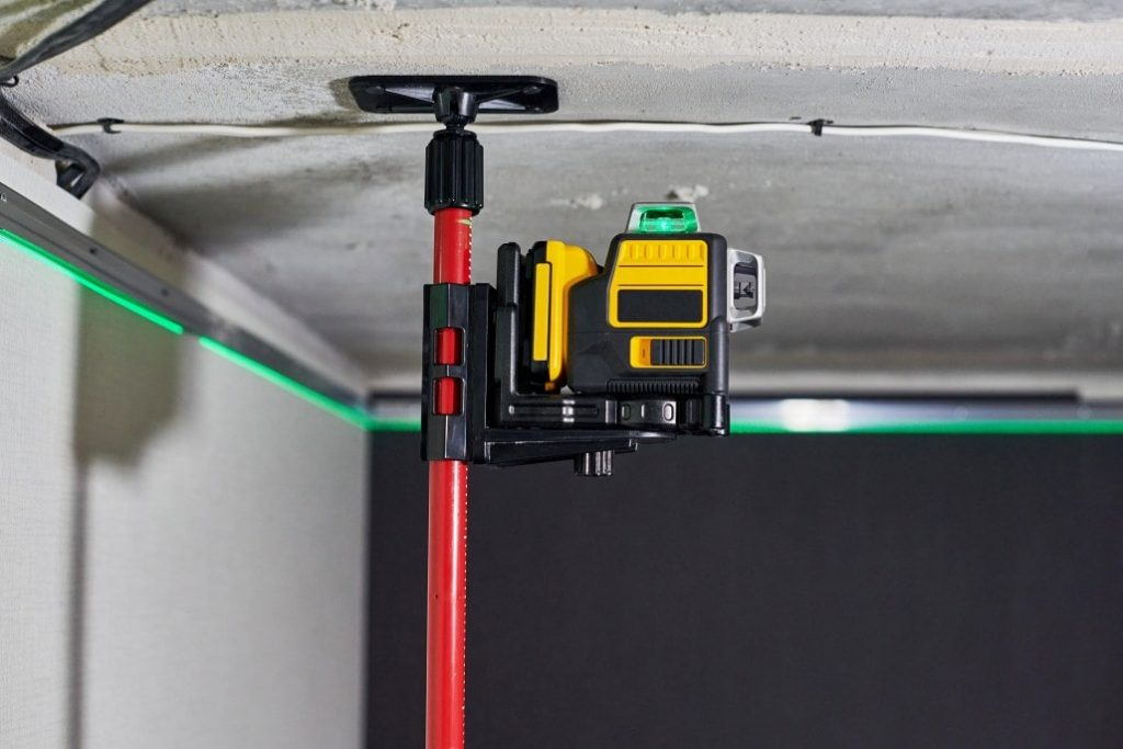 Tool being used in a garage